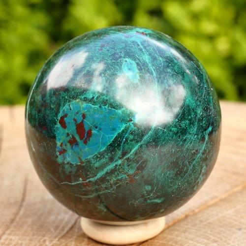 Chrysocolla bol van ca 55mm diameter en mooie tekening