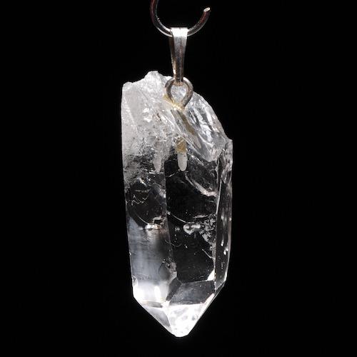 Bergkristal ruwe punt hanger