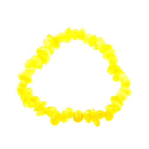 Barnsteen baby armband geel