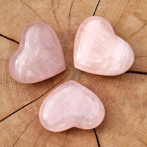 Rozenkwarts hart met breedte van 82mm