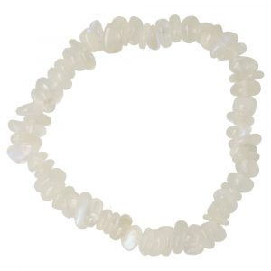 Witte Maansteen Armband Split