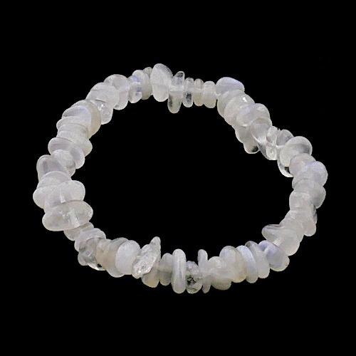 Witte maansteen armband in split uitvoering