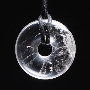 Bergkristal Donut Hanger 30mm