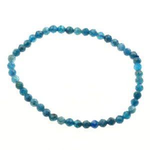Blauwe Apatiet Armband Gefacetteerd