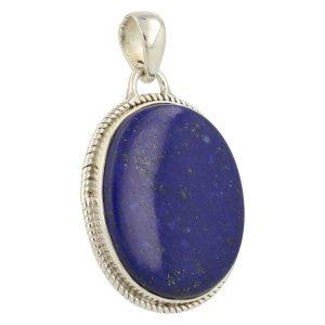 Lapis Lazuli Hanger In Zilver 'LL3'