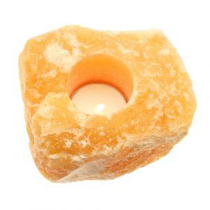 Oranje Calciet Waxinelicht Houder