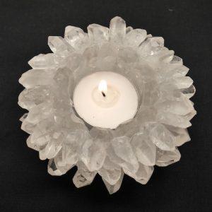 Bergkristal Waxinelichthoude Kristallen