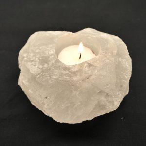 Bergkristal Waxinelichthouder