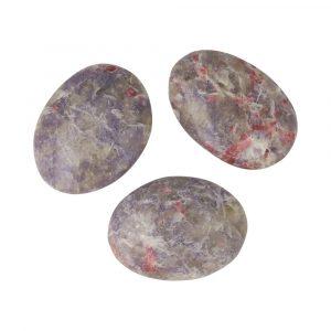 Pegmatiet (lepidoliet + Roze Toermalijn) Knuffelsteen