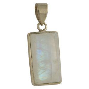 Witte Maansteen Hanger In Zilver 'MS5'