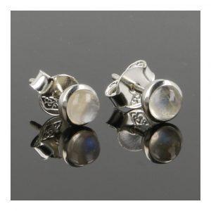 Witte Maansteen Oorbel In Zilver